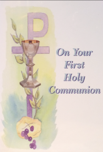 On your First Holy Communion, (Purple and Green)
